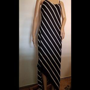 Express Asymmetrical Stripe Maxi Dress